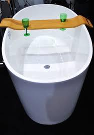 Wood Bathtub Caddy Wine Glass Holder For Bathroom Descargas Mundiales Com