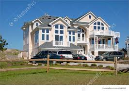 residential architecture luxury beach house stock photo