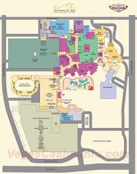 Map Of Las Vegas Strip Hotels by Mandalay Bay Property Maps 3d Layout Map