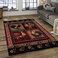 Rooster Area Rug Funky Rooster Area Rugs For Good Luck When A Little Push Is