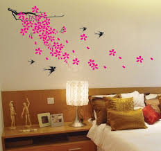 super giant easy wall decor sticker wall decal cherry blossom super giant easy wall decor sticker wall decal cherry blossom birds flower wall decals amazon com