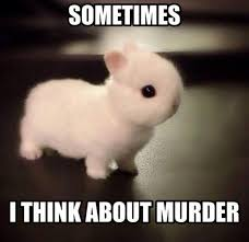 Murder Meme - sometimes i think about murder bunny memes and comics