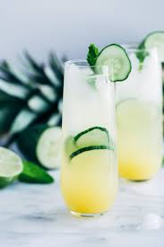 tropical drink emoji pineapple cucumber lime spritzers making thyme for health