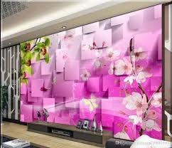 classic home decor fantasy dynamic floral 3d tv backdrop mural 3d