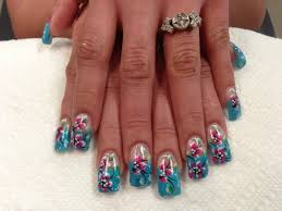 marble no water blue red and white nail art design youtube