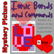 ionic bonds and compounds mystery picture worksheet for review or