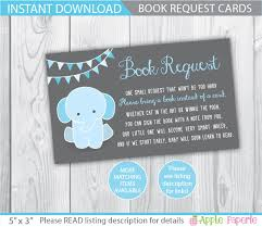 baby shower bring a book instead of a card baby shower book request home design