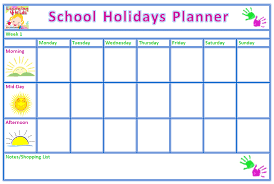 summer holiday planner template holiday planner printable