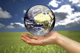 wallpaper earth planet globe hand sky grass ecology hd