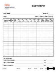 megger test report template megger test report exle study