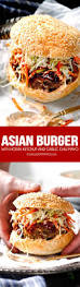 these crazy juicy asian burgers are so bursting with flavor you