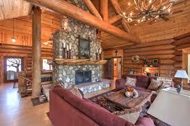 arizona mountain retreat custom all log home for sale