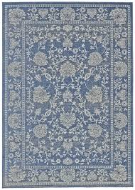 Polypropylene Area Rugs by Antique Collection Power Loomed Polypropylene Area Rug In Denim