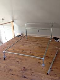 How To Make A Wooden Platform Bed by How To Build A Pipe Bed Frame Simplified Building