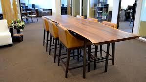 sjotime industries walnut slab conference table