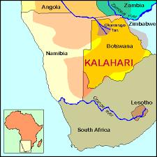 africa map kalahari exploring worldview kung of the kalahari
