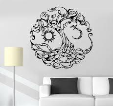 black tree vinyl wall decal home design ideas tree of life vinyl wall decal