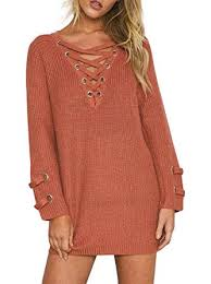 orange sweater womens simplee apparel s sleeve lace up knit pullover sweater