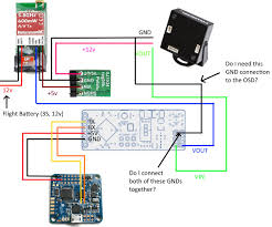 naze32 minimosd 12v camera d4r ii is my wiring correct