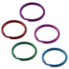 color key rings images Lucky line 1 quot color split key rings 200 per bag jpg