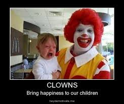 Creepy Clown Meme - scary clowns in 18 memes the grasshopper