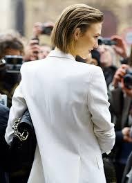 stud hairstyles le fashion blog crisp white jacket blazer tuxedo style karlie