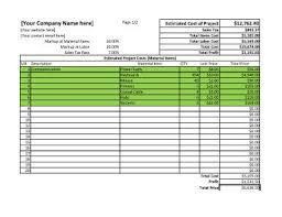 Estimate Template Excel 11 Estimate Templates And Work Quotes Excel Word