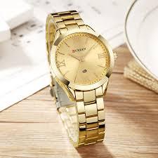 gold ladies bracelet watches images Curren 9007 luxury women watch famous brands gold fashion design jpg
