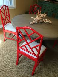 just a in search of a red bamboo chair lorri dyner design