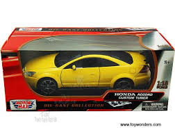 collectible model cars honda accord custom tuner top 73146yl 4 1 18 scale motormax