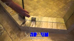 Glass Shower Door Bottom Sweep by Vitralum Glass Solutions How To Avoid Water Leakage From Frameless
