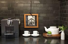 slate kitchen backsplash black slate at the kitchen backsplash is an update of the 70s