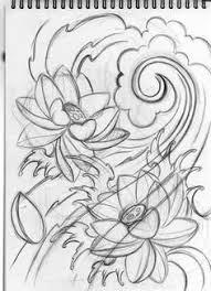 pictures japanese lotus drawings drawing art gallery