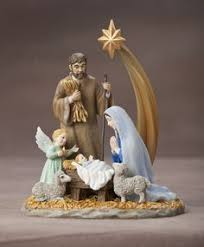 Holy Family Outdoor Christmas Decoration Nativity Scene By Collections Etc by Silent Night Nativity Set Silent Night Stoneware And Pottery