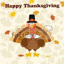 royalty free thanksgiving turkey bird wearing a pilgrim hat