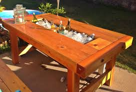 coffee table with cooler patio table with integrated cooler