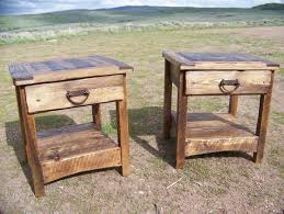 Build A End Table Plans by Rustic End Table Country Primitive Weathered Wood Lodge