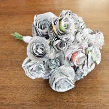 diy bouquet diy newspaper wedding bouquet popsugar smart living