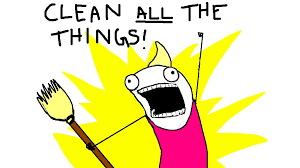 Clean All The Things Meme - even when it hurts alot brosh faces life with plenty of