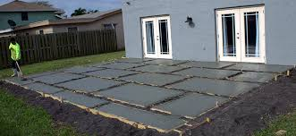 How To Make A Patio Out Of Pavers Create A Stylish Patio With Large Poured Concrete Pavers