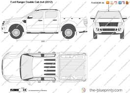 Ford Ranger Truck Bed Dimensions - the blueprints com vector drawing ford ranger double cab 4x4