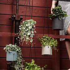 modern hanging planters block hanging planter by lind dna urban avenue