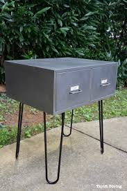 Kitchen Base Cabinets With Legs Before U0026 After Vintage Metal Cabinet With Hairpin Legs