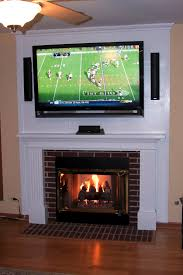 furniture white mounting tv over fireplace hiding wires with tv