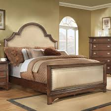 Tufted Headboard Footboard King Sleigh Bed With Linen Tufted Headboard And Footboard With