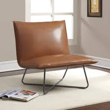 Brown Leather Accent Chair Accent Chairs Leather Living Room Chairs Shop The Best Deals