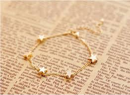gold fine bracelet images New lady girls bangle simple gold filled chic heart trendy stars jpg