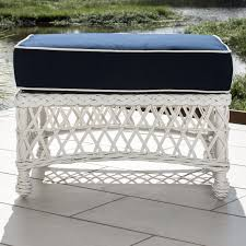 Patio Ottoman Everglades White Resin Wicker Patio Ottoman By Lakeview Outdoor