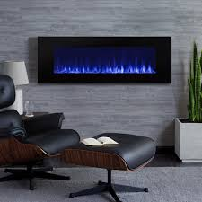 real flame dinatale 50 in wall mount electric fireplace in black
