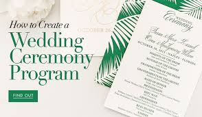 How To Create A Wedding Program A Complete Guide To Creating Your Wedding Programs Inside Weddings